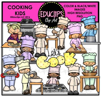 Cooking Kids Clip Art Bundle