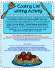 Cooking List   Writing Activity Freebie