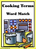 Cooking Terms Word Match