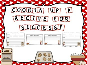 Cooking Themed Writing Bulletin Board Activity Set