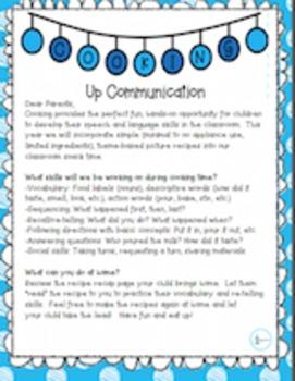 Cooking Up Communication Parent Letter