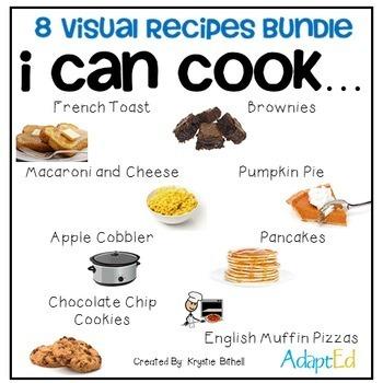 Cooking Visual Recipe: 8 Recipes BUNDLE Special Education