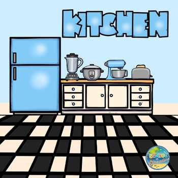 Kitchen Tools Vocabulary Word Cards