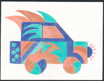 Cool Car – Elementary Art Project - Step-By-Step