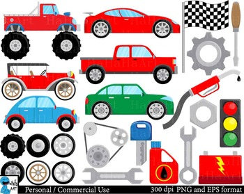 Cool Cars - Digital Clip Art Personal and Commercial Use 1