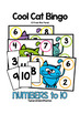 Cool Cat Bingo - Numbers to 10 Numeral Identification Game