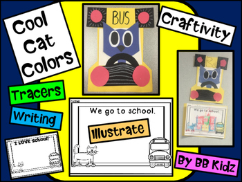 Cool Cat Colors Craft - Bus craftivity and writng project