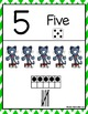 Cool Cat Green Chevron Number Posters