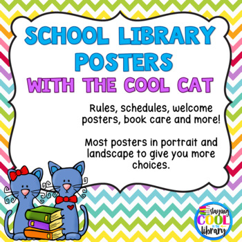 Cool Cat Library Poster Set