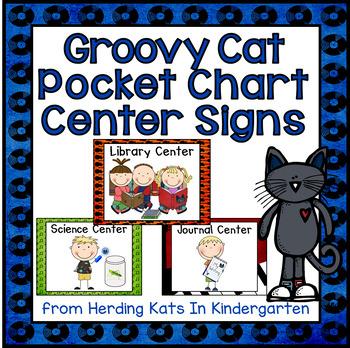 Cool Cat Pocket Chart  Center Cards