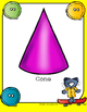 Cool Cat Theme 2D and 3D Shape Posters