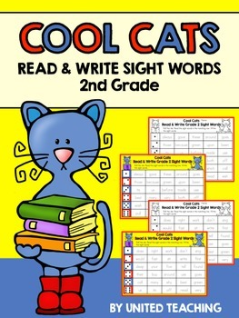 Cool Cats Read & Write Sight Words 2nd Grade Edition