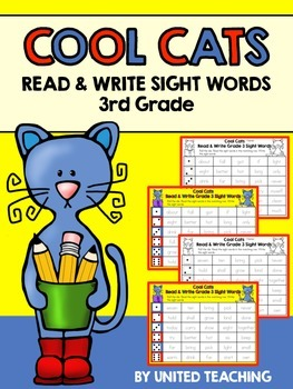 Cool Cats Read & Write Sight Words 3rd Grade Edition