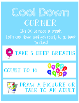 Cool Down Corner Visual Checklist