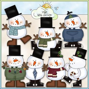 Cool Dudes Clip Art - Christmas Snowman Clip Art - CU Colo