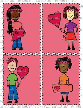 Cool Hair Kids Valentine cards