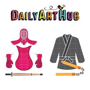 Cool Kendo Stuff Clip Art - Great for Art Class Projects!
