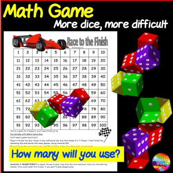 Cool Math Center Game Dice Game on 100 square Teach ADDITI