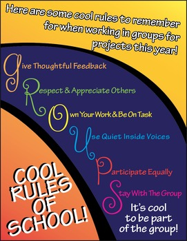 Cool Rules of Groups Flyers