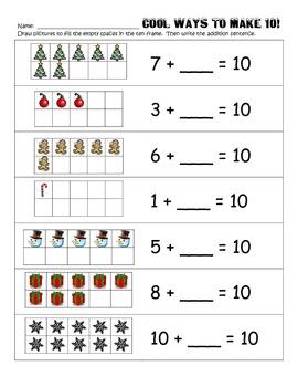 Ways to Make 10 - Set 1