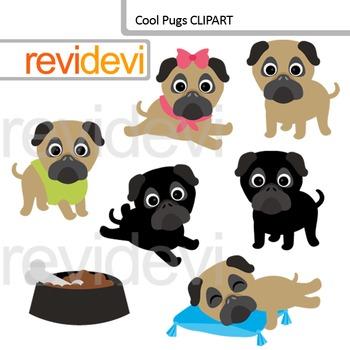 Cool pugs clip art