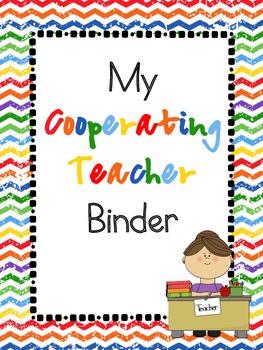 Cooperating Teacher Binder