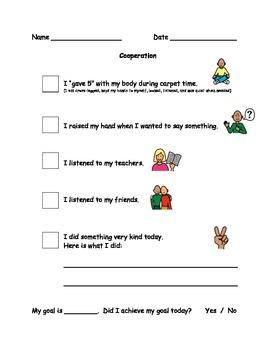 Cooperation Behaviour Checklist