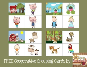 Cooperative Grouping Cards {FREEBIE}