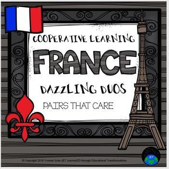 Cooperative Learning Dazzling Duos Pairs that Care France Themed