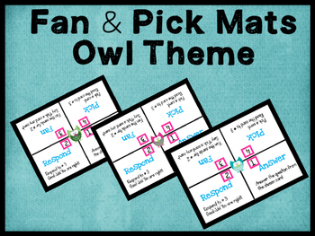 Cooperative Learning Fan and Pick Learning Mats Owl Theme