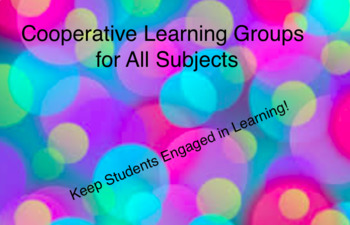 Cooperative Learning: Tons of Ideas for all subjects!