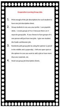 Cooperative Learning Group Jobs