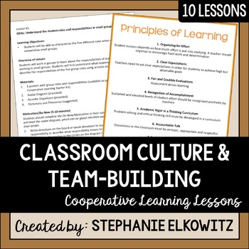 Cooperative Learning Lessons: Teaching Students to Love Learning