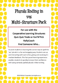 Cooperative Learning Multi-Structure Pack: 'ves' Plurals