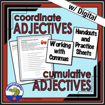 Coordinate Adjectives Handout and Practice Worksheet