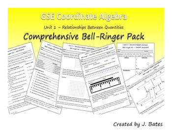 Coordinate Algebra Unit 1 Bell-Ringer Pack (Relationships