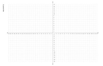 """Coordinate Graph - 4 Quad (Landscape) for print on 11"""" x 1"""