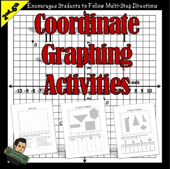 2nd to 6th Grade Coordinate Graphing Worksheets