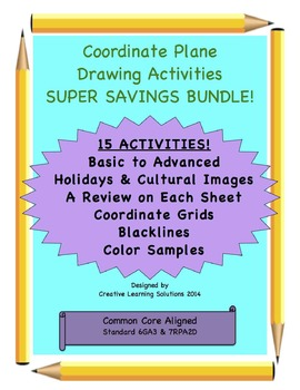 Coordinate Graphing Bundle Pack-15 Graphing Activites-Basi