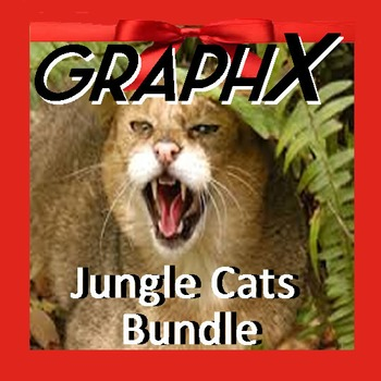 Coordinate Graphing - GraphX - Jungle Cats Bundle