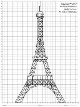 Coordinate Graphing Eiffel Tower Paris By Anthony