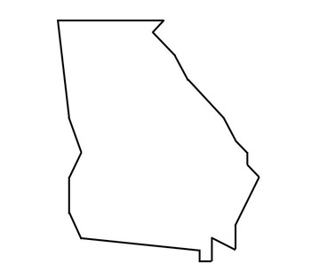 Coordinate Graphing / Ordered Pairs  OUTLINE MAP of GEORGIA