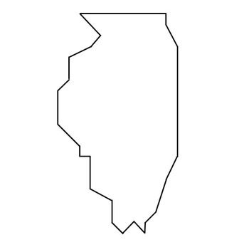 Coordinate Graphing / Ordered Pairs OUTLINE MAP of ILLINOIS