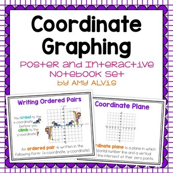 Coordinate Graphing Posters and Interactive Notebook Set