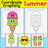 Coordinate Graphing Ordered Pairs Summer Activities - ice