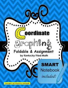 Coordinate Graphing on 4 Quadrants Foldable & SMART Notebo