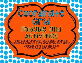 Coordinate Grid Interactive Notebook Foldable and Activiti