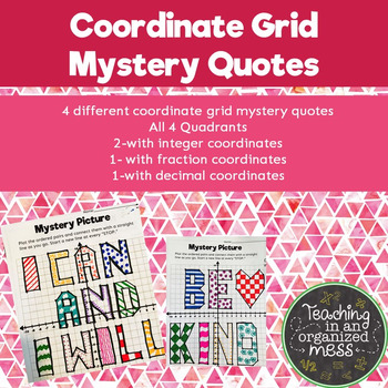 Coordinate Grid Mystery Quotes
