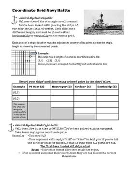 Coordinate Grid Navy Battle