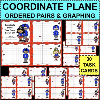 Coordinate Grid Plane Task Cards x-coordinate y-coordinate